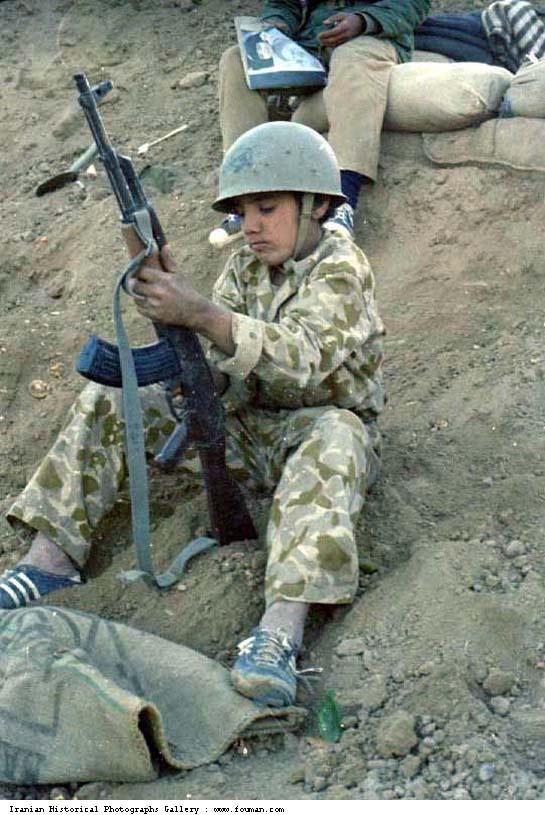 Iran_Iraq_War_Young_Boy_Kalashnikov