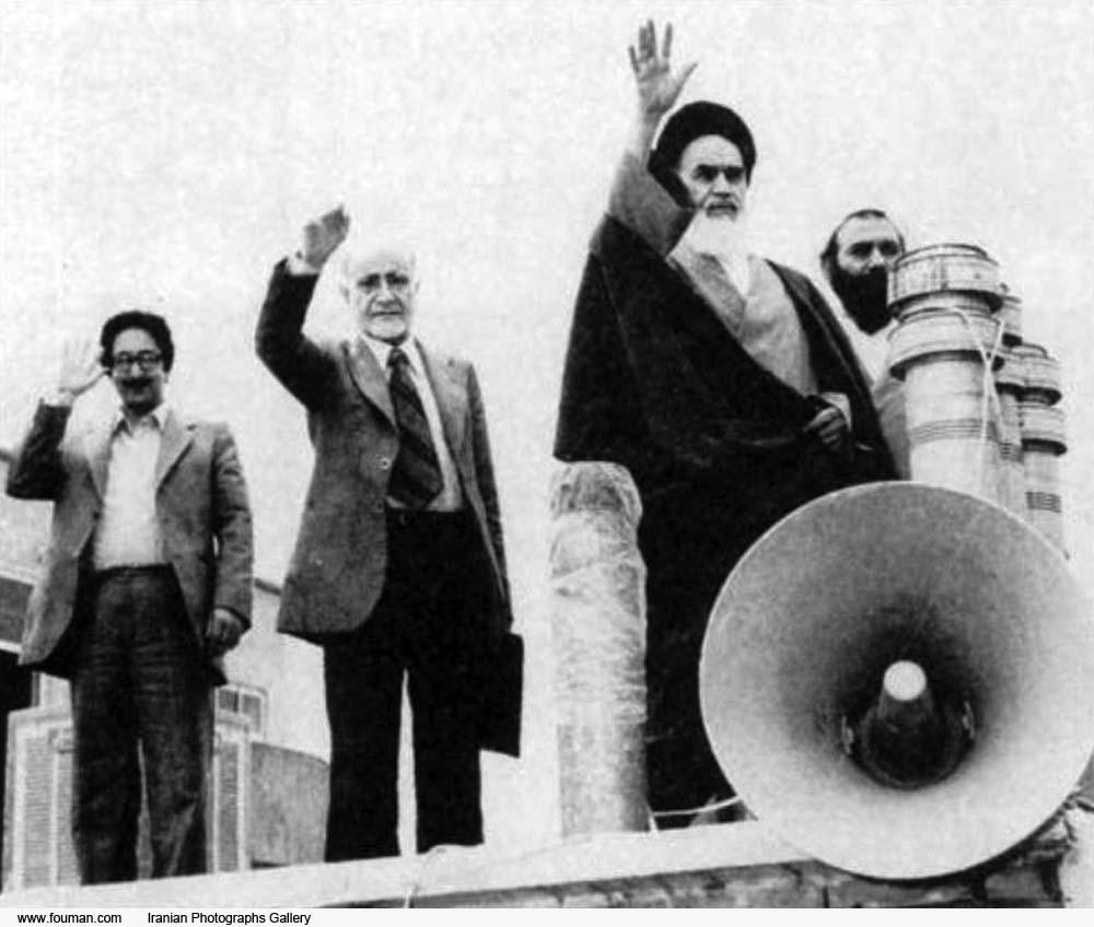 Iranian_Banisadr_Bazargan_Khomeini