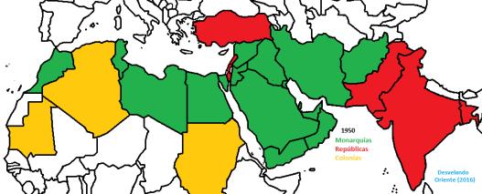 monarquias republicas 1950