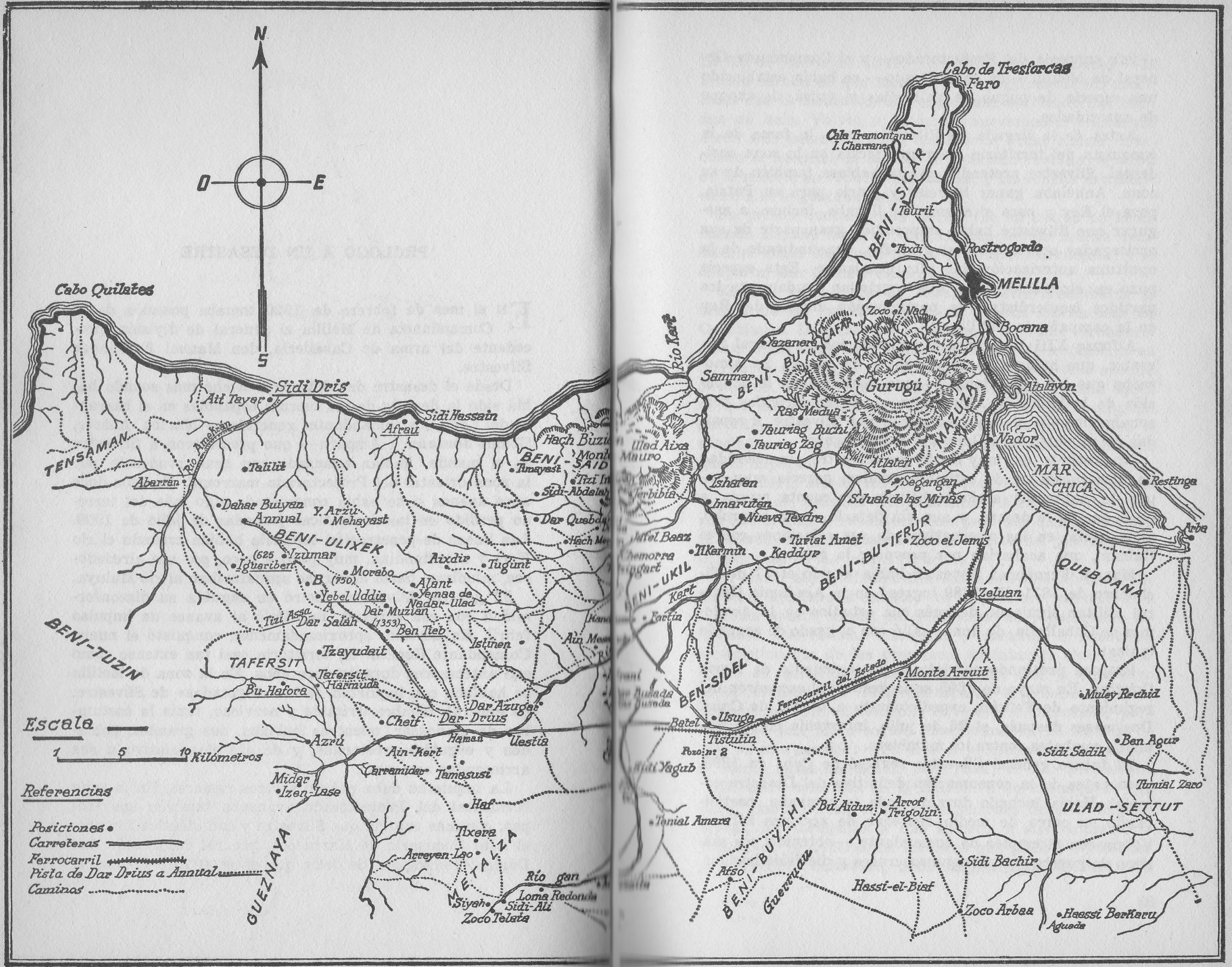 Mapa Rif