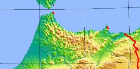 mapa altitud rif
