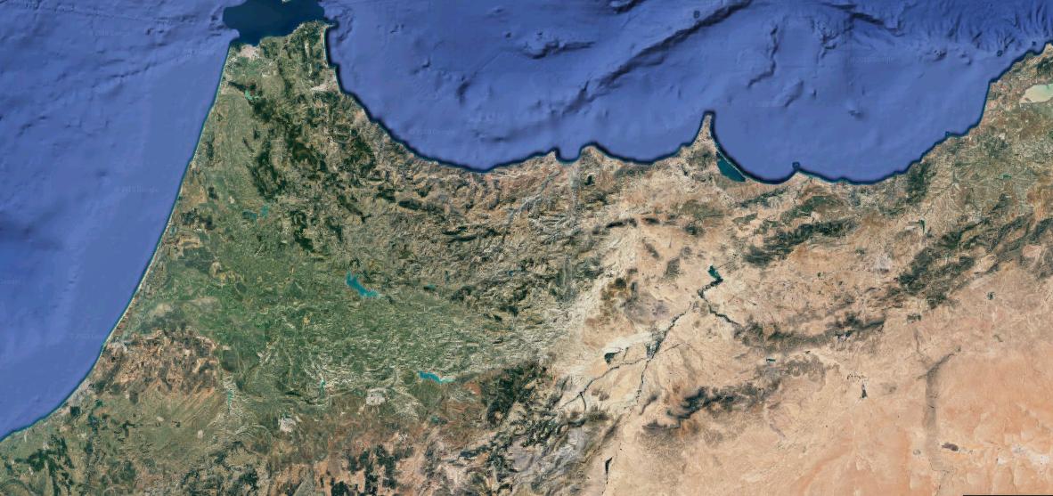 mapa satélite norte marruecos